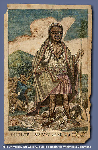 The Wampanoag chief Metacom, also known as King Philip, a principal figure in King Philip's War.